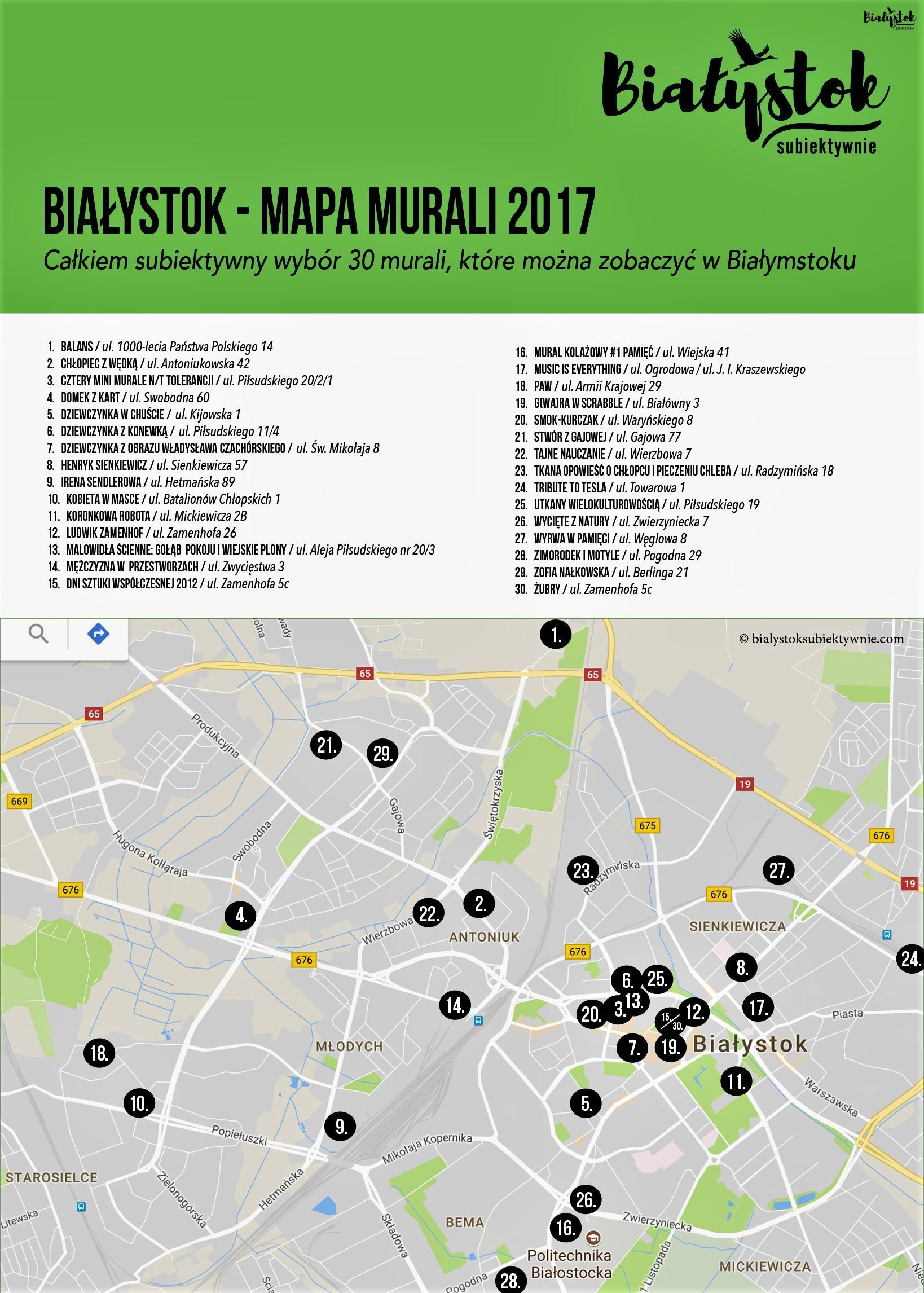 Mapa Bialostockich Murali Czesc 3 Opis Lokalizacja I Mapa Do